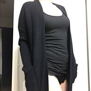 Jackets & Blazers - Long black cardigan